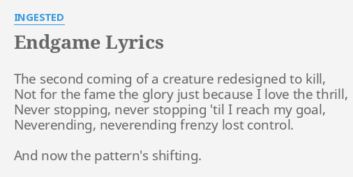Endgame lyrics by ingested the second coming of endgame lyrics by ingested the second coming of stopboris Image collections