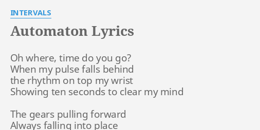 intervals automaton lyrics