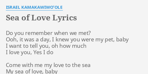 Do you remember i want to tell how much i love lyrics