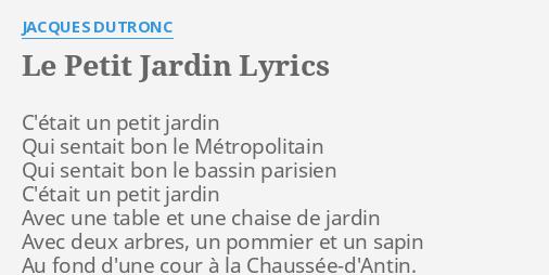 LE PETIT JARDIN\