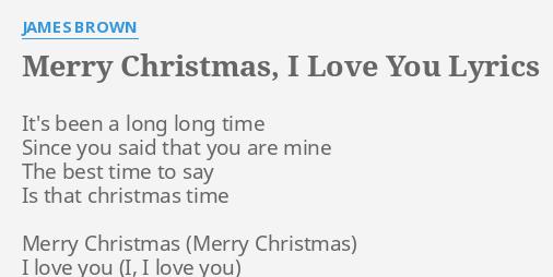 Christmas is the time to say i love you lyrics
