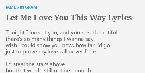 let love you lyrics