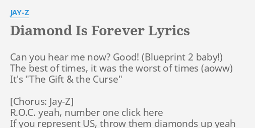 Diamond is forever lyrics by jay z can you hear me diamond is forever lyrics by jay z can you hear me malvernweather Image collections