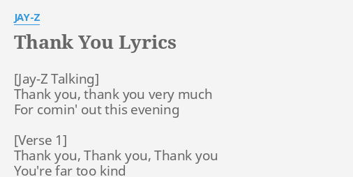 Thank you lyrics by jay z thank you thank you thank you lyrics by jay z thank you thank you malvernweather Gallery