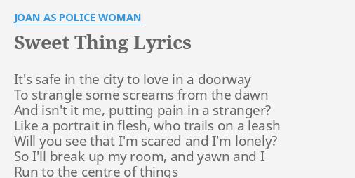 sweet woman lyrics