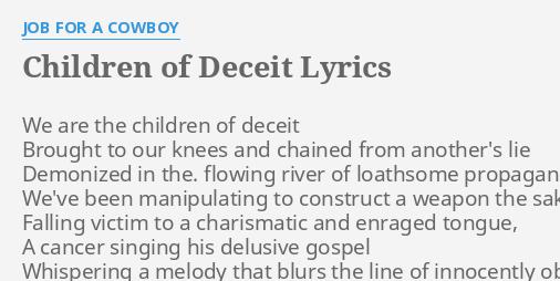 Job For A Cowboy Plastic Idols Lyrics on