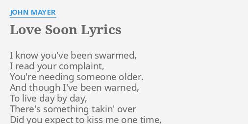 love soon lyrics