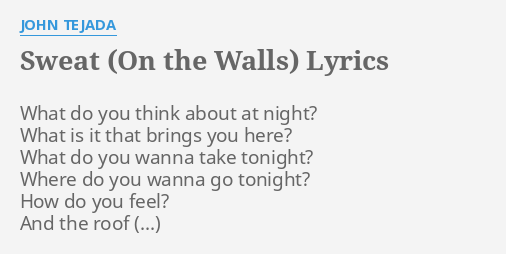 Lyrics to what do you think about that