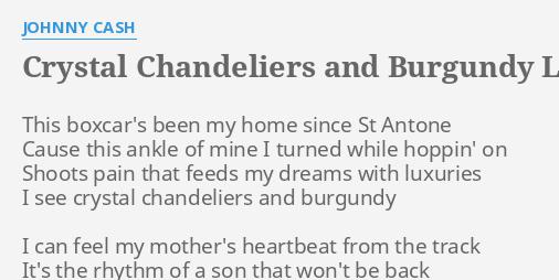 Amusing Crystal Chandelier Johnny Cash Ideas - Chandelier Designs ...