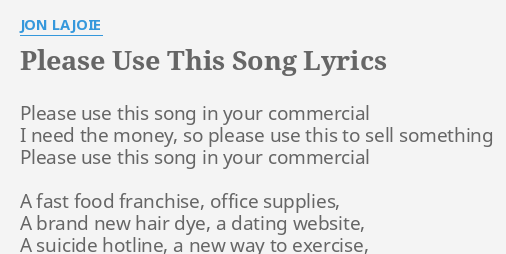 dating website Commercial Song