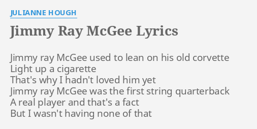 JIMMY RAY MCGEE