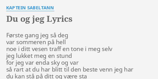du og jeg lyrics