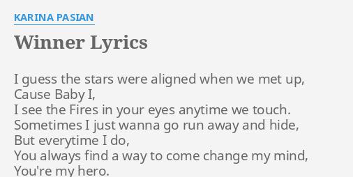 karina pasian lyrics