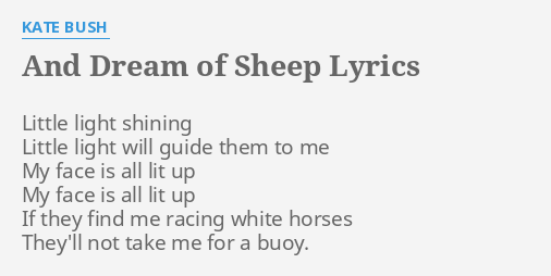 AND DREAM OF SHEEP