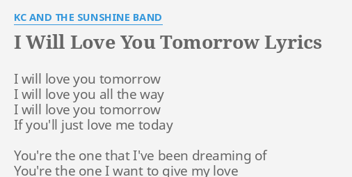 I will love you song lyrics