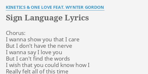 I wanna say i love you lyrics