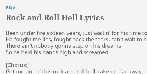 Rock and roll hell kiss