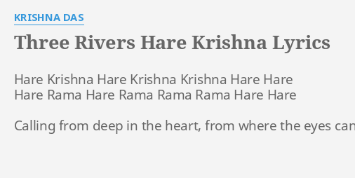 THREE RIVERS HARE KRISHNA