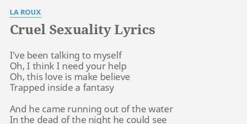 Cruel sexuality lyrics la roux