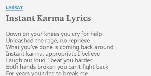 Karma lyrics