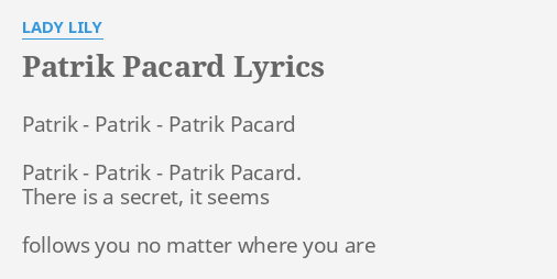 secret lady lyrics