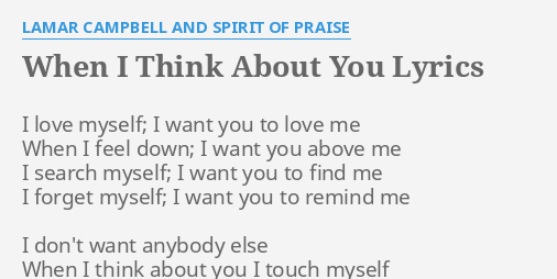 when you think about love think about me lyrics