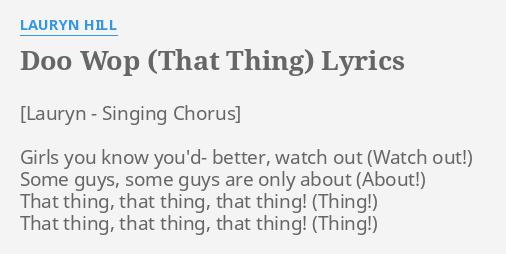 Girl You Know You Better Watch Out Lyrics - LyricsWalls