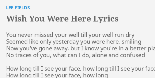 Till I Organize You Face To Face Lyrics