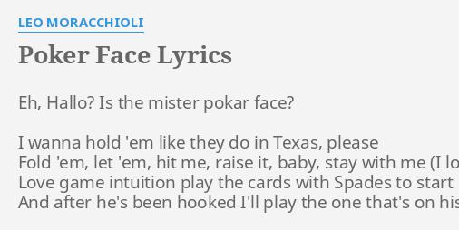 Poker face poker face lyrics counting cards poker