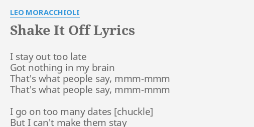 Shake It Off Lyrics