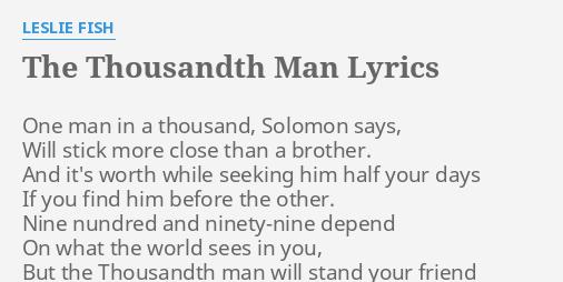 one thousandth man
