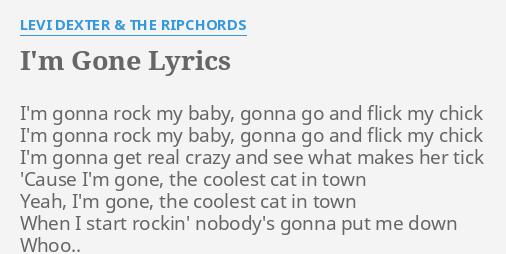 i m gonna rock this town lyrics