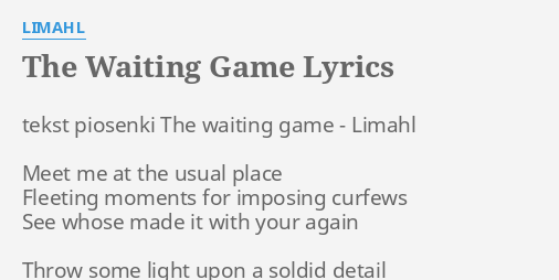 View Waiting Game Lyrics  JPG