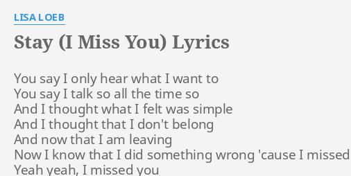 i miss u so much lyrics