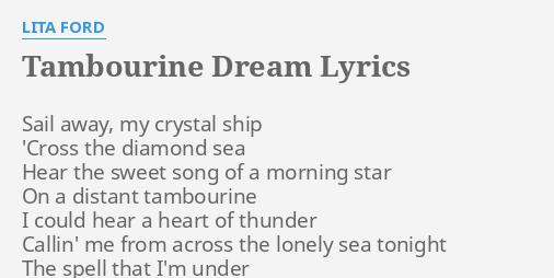 TAMBOURINE DREAM