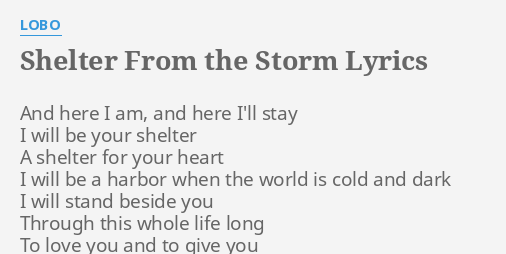 Shelter From The Storm Sheet Music
