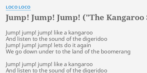 "Y So Kangaroo Song ""JUMP! JUMP! JUMP..."