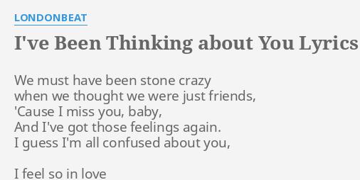 I m thinking about you lyrics