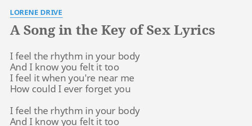 Song in the key of sex lyrics