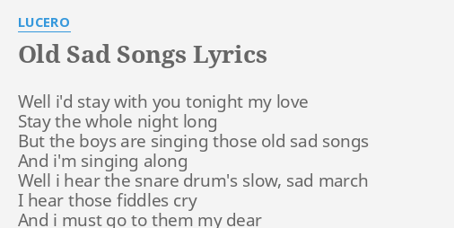 Lyrics sad song The 50