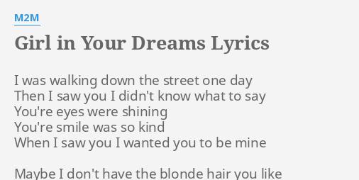 Girl in your dreams lyrics