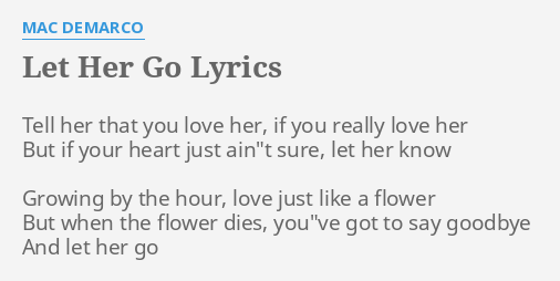 Tell her i love her lyrics