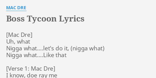 Mac Dre Lyrics