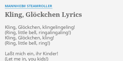 kling gl ckchen lyrics by mannheim steamroller kling. Black Bedroom Furniture Sets. Home Design Ideas