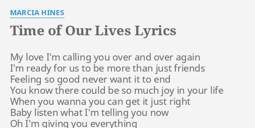 Time of my love lyrics