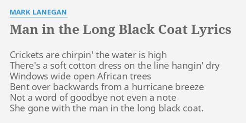 The man with the long black coat lyrics