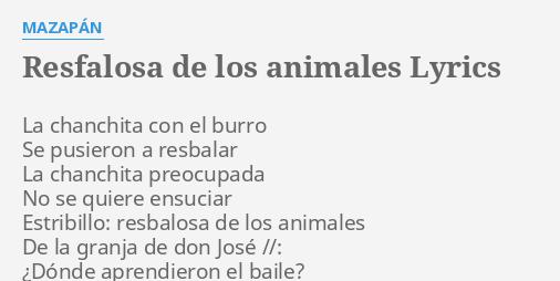 refalosa de los animales mazapan