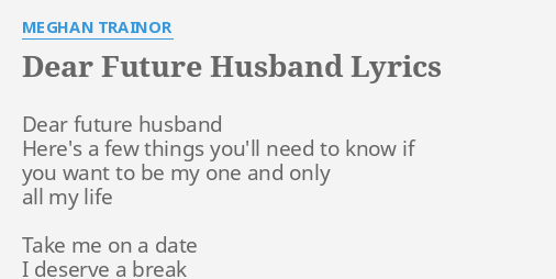 i want to know about my future husband