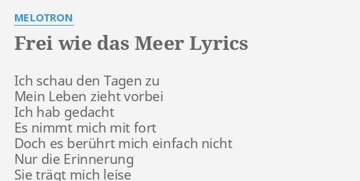 das meer lyrics