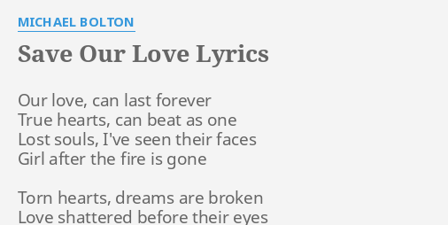 Our Love Will Last Forever Lyrics